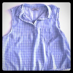 Pull&Bear cropped gingham blouse